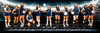 "Creekview Volleyball 2014 Equalizer Team Poster 5""x15"" or 24""x36"" vinyl"